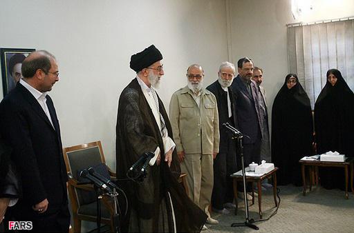 دیدار اعضای شورای شهر و شهردار تهران با مقام معظم رهبری - 1