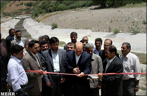 مراسم افتتاح کانال فرحزاد و تونل نظامی گنجوی
